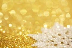 Snowflake on glitter royalty free stock photos