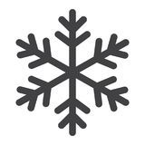 Snowflake glyph icon, New year and Christmas Stock Image