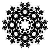Snowflake Glyph Vector Symbol. A psychedelic snowflake vector symbol Stock Images