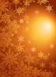 Snowflake gold  background / vector Stock Image