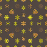 Snowflake gold christmas background retro. Vector Royalty Free Stock Images