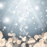 Snowflake and gold glitter lights. This image was made by an Illustrator CS5. Vector EPS 10 format Royalty Free Stock Image
