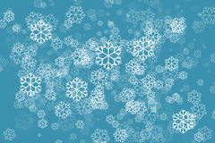 Snowflake in green color abstract background. White Snowflake in green color abstract background Royalty Free Stock Image