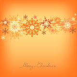Snowflake greeting card Stock Image