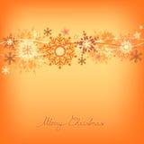 Snowflake greeting card Stock Image