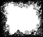 Snowflake grunge frame, elements for design, vector Stock Images