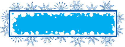Snowflake grunge frame, elements for design, vector Stock Photos
