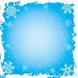 Snowflake grunge frame, vector Stock Photos