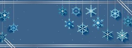Snowflake hang banner Royalty Free Stock Photo