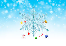 Snowflake hanging christmas ornament Stock Image