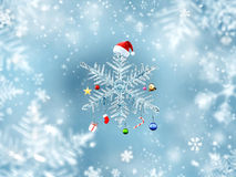 Snowflake Hanging Christmas Ornament Stock Images