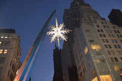 Snowflake hanging on crane Royalty Free Stock Photos