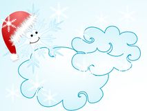 Snowflake with hat Stock Photos