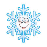 Snowflake Head -  Smiley Stock Image