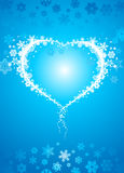Snowflake heart Royalty Free Stock Images