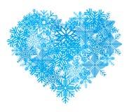 Snowflake heart Royalty Free Stock Photos