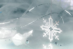 Snowflake Holiday Background Royalty Free Stock Images