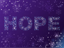 Snowflake HOPE background Stock Photos