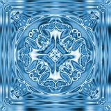 Snowflake on ice. Generated by computer Stock Image