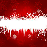 Snowflake and Icicle background Royalty Free Stock Images