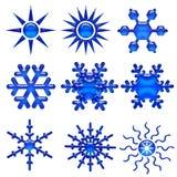 Snowflake icon 1 Stock Images
