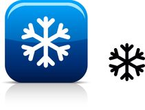 Snowflake icon. Royalty Free Stock Images