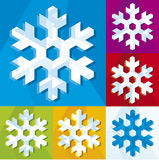 Snowflake icon 2 (vector). Illustration of a snowflake in different colors (vector stock illustration