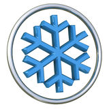 Snowflake icon 3d Royalty Free Stock Images