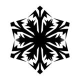 Snowflake icon. Christmas and winter theme. Simple flat black illustration on white background stock illustration