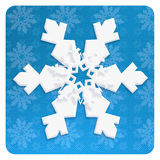 SNOWFLAKE wallpaper. Christmas. 2018. Chinese Paper cut style. Winter Snow wallpaper. Snowfall. Snowy BLUE light background. Festive snowflakes banner. Happy New Royalty Free Stock Photos
