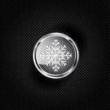 Snowflake icon Stock Photos