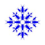 Snowflake icon graphic. Collected from cockroaches. New year. Christmas Winter Stock Photo
