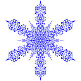 Snowflake icon graphic sign symbol drawing. Blue snowflake isolated on white background. High resolution Stock Image