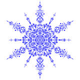 Snowflake icon graphic sign symbol drawing. Blue snowflake isolated on white background. High resolution detailed Royalty Free Stock Photos