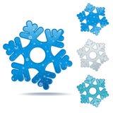 Snowflake icon set Stock Image