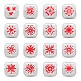 Snowflake icon set Stock Images