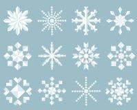 Snowflake Icon Set Royalty Free Stock Images