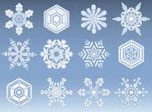 Snowflake Icon Set Stock Images