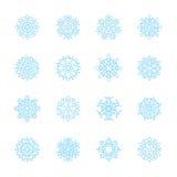 Snowflake icon set, vector eps10 Stock Photos