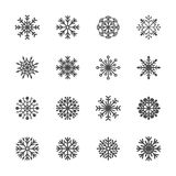 Snowflake icon set 5, vector eps10 Royalty Free Stock Photo