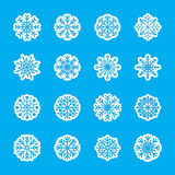 Snowflake icon set 2, vector eps10 Royalty Free Stock Photos