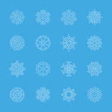 Snowflake icon set 6, vector eps10 Stock Photos