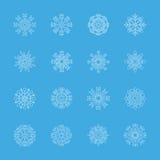 Snowflake icon set 3, vector eps10 Stock Image
