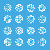 Snowflake icon set 7, vector eps10 Royalty Free Stock Photography