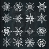 Snowflake icon set. Winter doodles decor Stock Photo