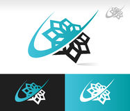 Swoosh Snowflake Icon royalty free stock image