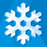 Snowflake icon (vector). Illustration of a snowflake in white and blue (vector vector illustration