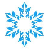 Snowflake Icon. vector illlustration. isolated on white background Royalty Free Stock Images