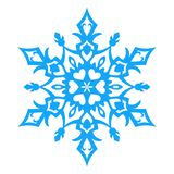 Snowflake Icon. vector illlustration. Stock Photography