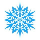 Snowflake Icon. vector illlustration. Royalty Free Stock Images